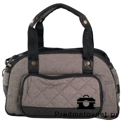 фото сумка-переноска черная для животных